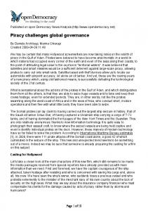 Piracy challenges global governance