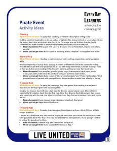Pirate Event Activity Ideas