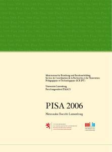 PISA Pisa 2006 Pisa 2006 Pisa 2006 Pisa 2006 Pisa 2006 Pisa 2006 Pisa 2006