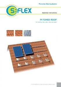 PITCHED ROOF. Photovoltaic Mounting Systems. Assembly Instructions. for roofing tiles, plain tiles and slate