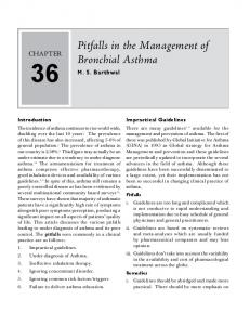 Pitfalls in the Management of Bronchial Asthma