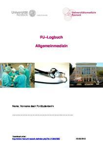 PJ Logbuch. Allgemeinmedizin
