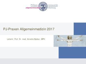 PJ-Praxen Allgemeinmedizin 2017