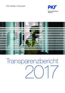 PKF FASSELT SCHLAGE. Transparenzbericht