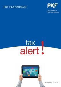 PKF VILA NARANJO. alert! tax