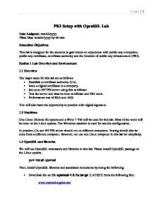 PKI Setup with OpenSSL Lab
