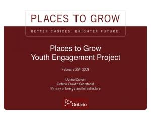 Places to Grow Youth Engagement Project
