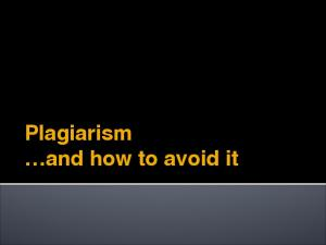 Plagiarism and how to avoid it
