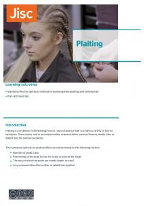 Plaiting. Learning outcomes. Introduction. Maintain effective and safe methods of working when plaiting and twisting hair. Plait and twist hair