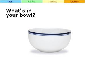 Plan Collect Process Discuss. What s in your bowl?