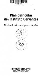 Plan curricular del Instituto Cervantes