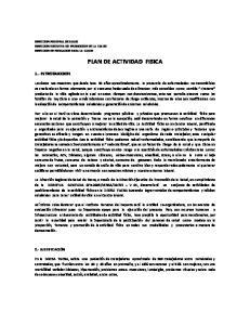PLAN DE ACTIVIDAD FISICA