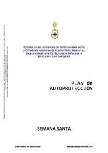 PLAN de AUTOPROTECCIÓN SEMANA SANTA