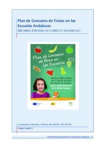 Plan de Consumo de Frutas en las Escuelas Andaluzas 1