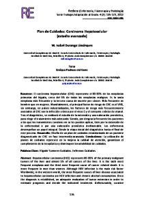 Plan de Cuidados: Carcinoma Hepatocelular (estadio avanzado)