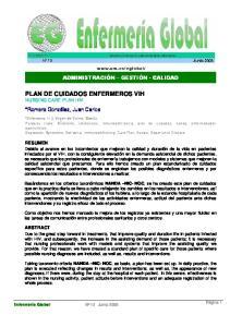 PLAN DE CUIDADOS ENFERMEROS VIH NURSING CARE PLAN HIV