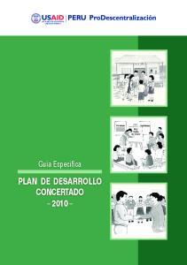 Plan de desarrollo ConCertado 2010