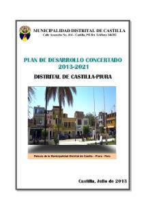 PLAN DE DESARROLLO CONCERTADO