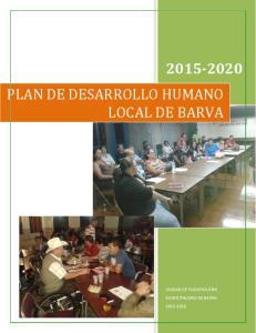 PLAN DE DESARROLLO HUMANO LOCAL DE BARVA