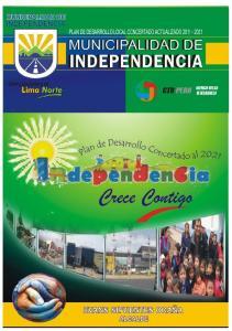 PLAN DE DESARROLLO LOCAL CONCERTADO (ACTUALIZADO) DEL DISTRITO DE INDEPENDENCIA AL 2021