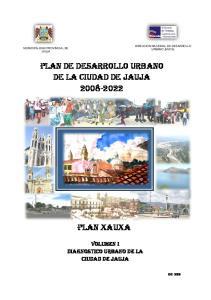 PLAN DE DESARROLLO URBANO DE LA CIUDAD DE JAUJA