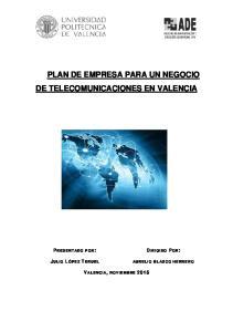 PLAN DE EMPRESA PARA UN NEGOCIO DE TELECOMUNICACIONES EN VALENCIA