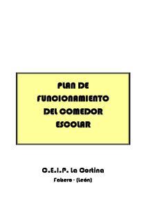 PLAN DE FUNCIONAMIENTO DEL COMEDOR ESCOLAR