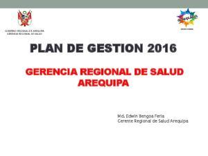 PLAN DE GESTION 2016