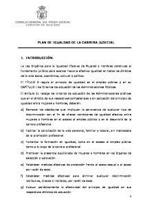 PLAN DE IGUALDAD DE LA CARRERA JUDICIAL
