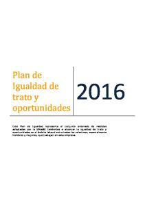 Plan de Igualdad de trato y oportunidades