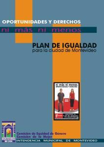 PLAN DE IGUALDAD para la ciudad de Montevideo