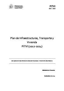 Plan de Infraestructuras, Transporte y Vivienda PITVI ( )