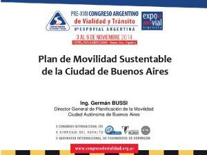 Plan de Movilidad Sustentable de la Ciudad de Buenos Aires