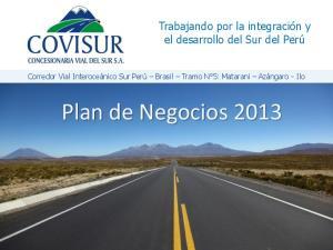 Plan de Negocios 2013