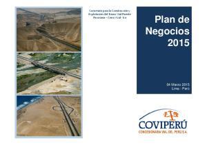 Plan de Negocios 2015