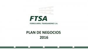 PLAN DE NEGOCIOS 2016