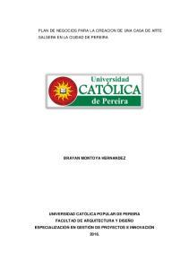 PLAN DE NEGOCIOS PARA LA CREACION DE UNA CASA DE ARTE SALSERA EN LA CIUDAD DE PEREIRA