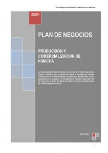 PLAN DE NEGOCIOS PRODUCCION Y COMERCIALIZACION DE KIWICHA