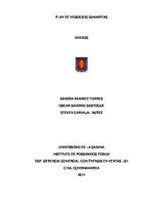 PLAN DE NEGOCIOS: SAMARITAS ANEXOS