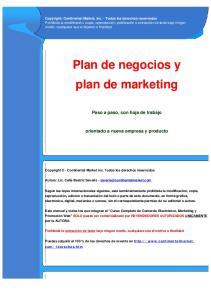 Plan de negocios y plan de marketing