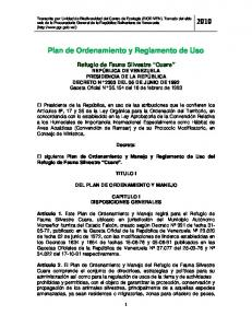 Plan de Ordenamiento y Reglamento de Uso