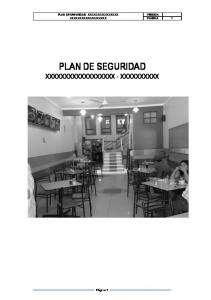 PLAN DE SEGURIDAD XXXXXXXXXXXXXXXXXX - XXXXXXXXXX