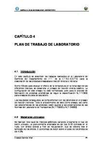 PLAN DE TRABAJO DE LABORATORIO