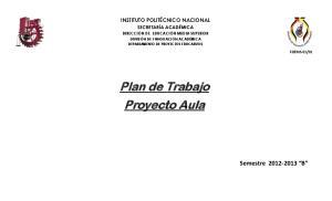 Plan de Trabajo Proyecto Aula