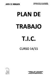 PLAN DE TRABAJO T.I.C