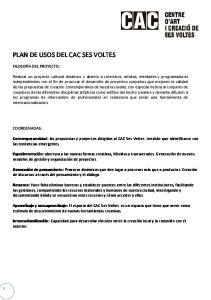 PLAN DE USOS DEL CAC SES VOLTES