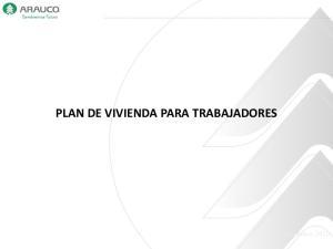 PLAN DE VIVIENDA PARA TRABAJADORES