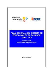 PLAN DECENAL DEL SISTEMA DE EDUCACION EN EL ECUADOR