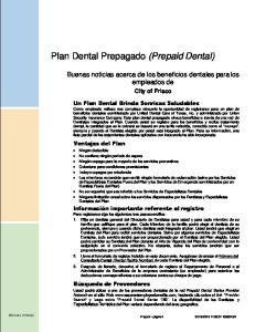 Plan Dental Prepagado (Prepaid Dental)
