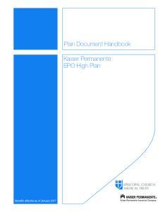 Plan Document Handbook. Kaiser Permanente EPO High Plan